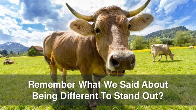 Remember What We Said About Being Different To Stand Out?