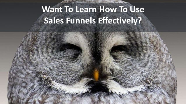 Want To Learn How To Use Sales Funnels Effectively?
