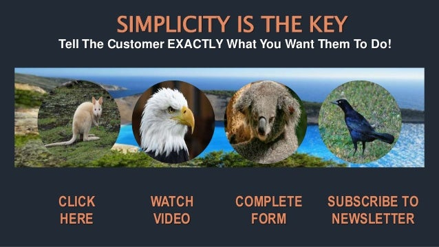 SIMPLICITY IS THE KEY Tell The Customer EXACTLY What You Want Them To Do! WATCH VIDEO CLICK HERE SUBSCRIBE TO NEWSLETTER C...