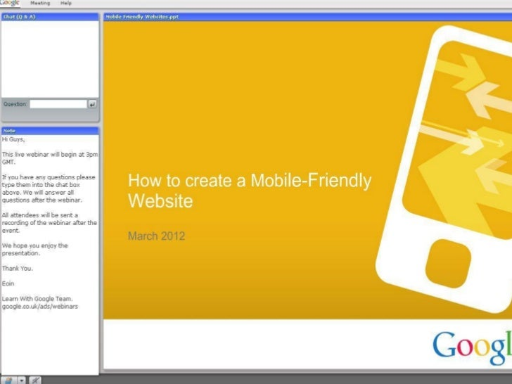 How to create mobile friendly websites