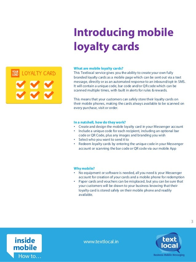 Easily create and share mobile loyalty cards with Textlocal