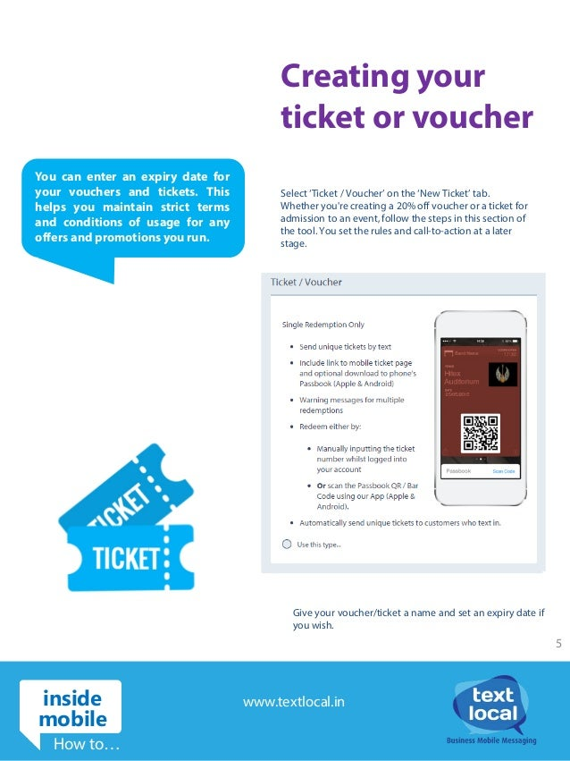 Create mobile tickets vouchers and much more – Creating Vouchers