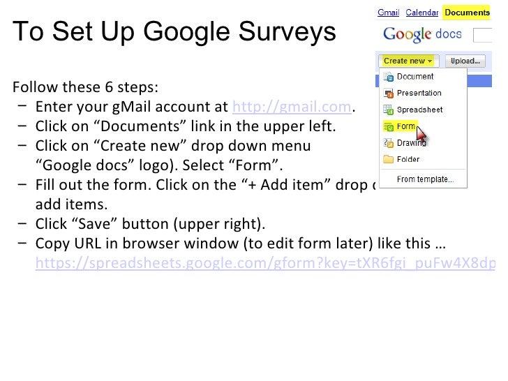 How To Create Online Surveys In Google Docs