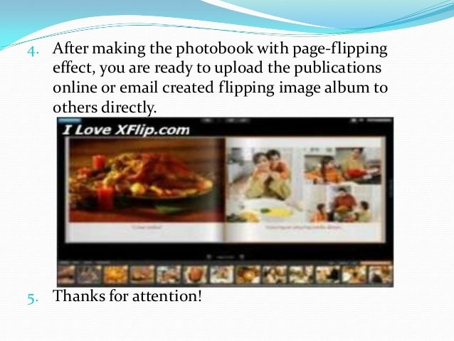 4. After making the photobook with page-flipping  effect, you are ready to upload the publications online or email created...
