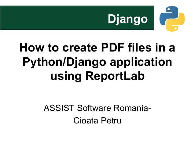 How to create pdf files in a python django application using