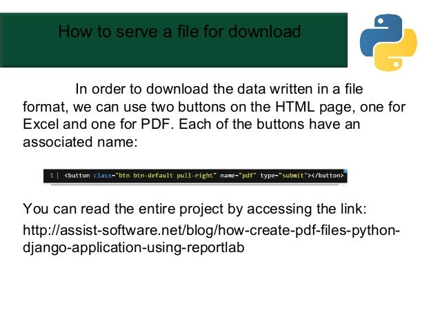 how to create pdf files in a python django application using reportlab