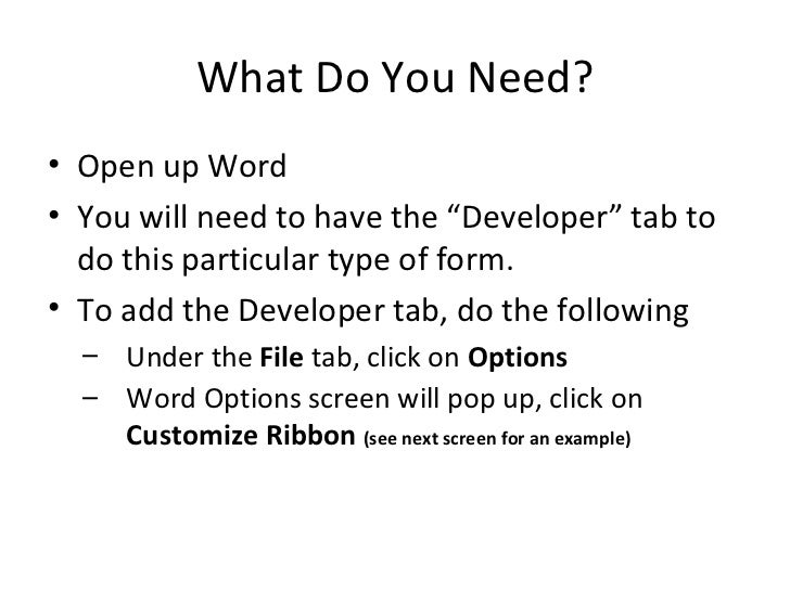 create pdf fillable form from word