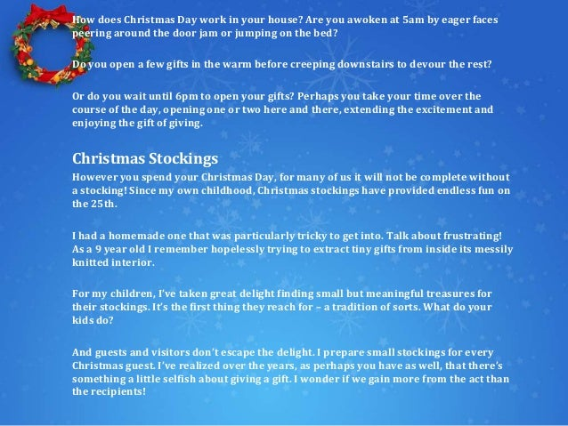 How to create the best Christmas stocking of all time! Slide 2