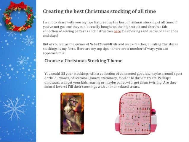 How to create the best Christmas stocking of all time! Slide 3