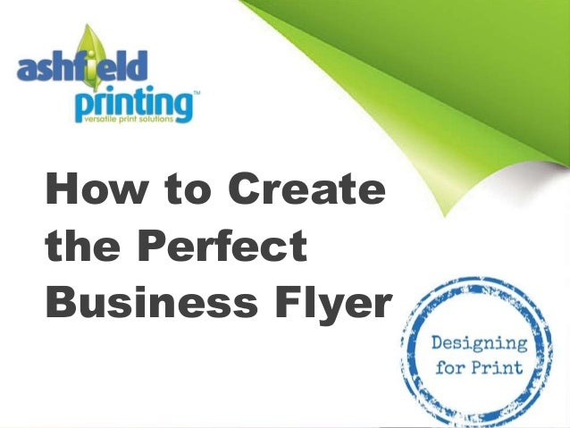 create a business flyer