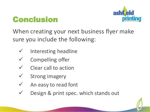 how to create the perfect business flyer