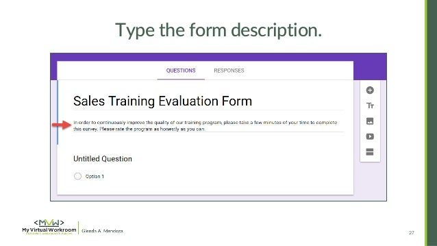 How to Create Training Feedback Survey in Google Forms 2016 – Training Feedback Questions