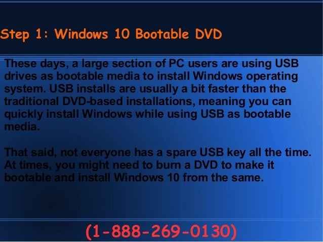 create bootable windows 10 dvd