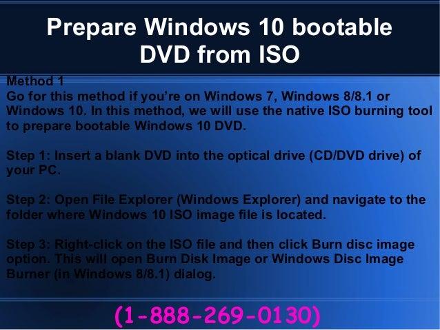 How to create windows 10 bootable dvd