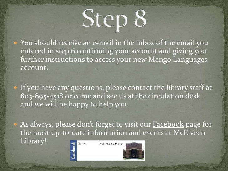 how to create mango account