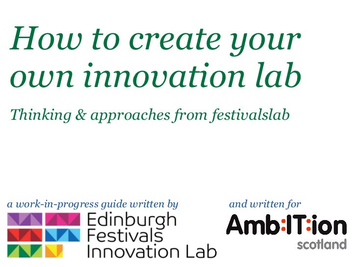 How to create yourown innovation labThinking & approaches from festivalslaba work-in-progress guide written by   and writt...