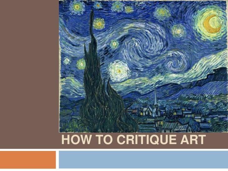 how to write a critique for an art piece