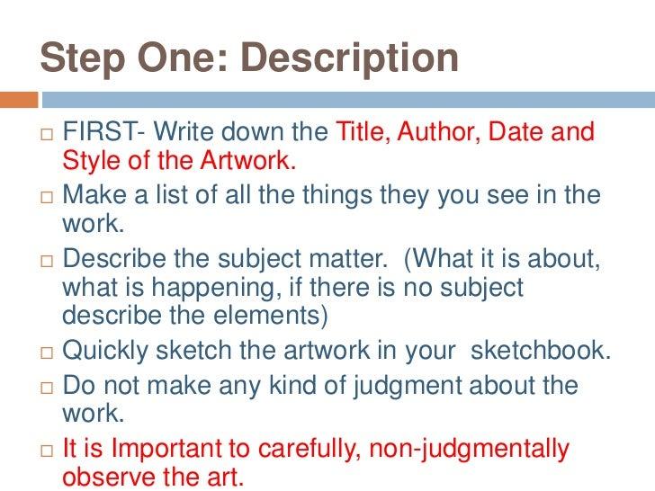 how to write artwork titles
