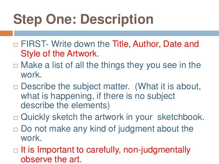 How to Formally Critique Art – Art Critique Worksheet