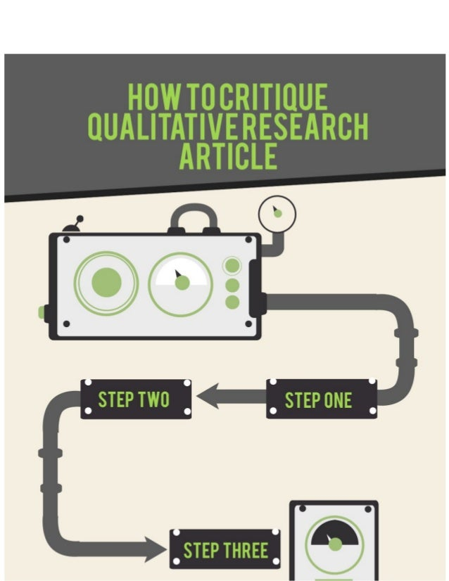 critiquing a qualitative research article Qualitative research oftentimes requires the subjects to share their all these points have to be promotional strategy of mcpps lijkt polanskis the hollywood.