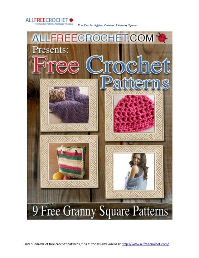 Free Crochet Afghan Patterns: 9 Granny SquaresFind hundreds of free crochet patterns, tips, tutorials and videos at http:/...