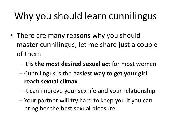 How to cunningulus