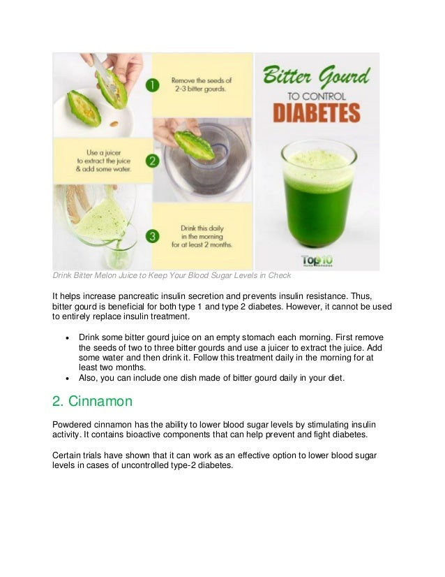 Foods To Eat To Cure Type  Diabetes
