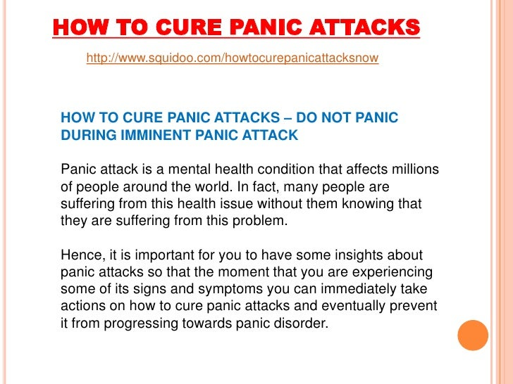 how to come anxiety attacks