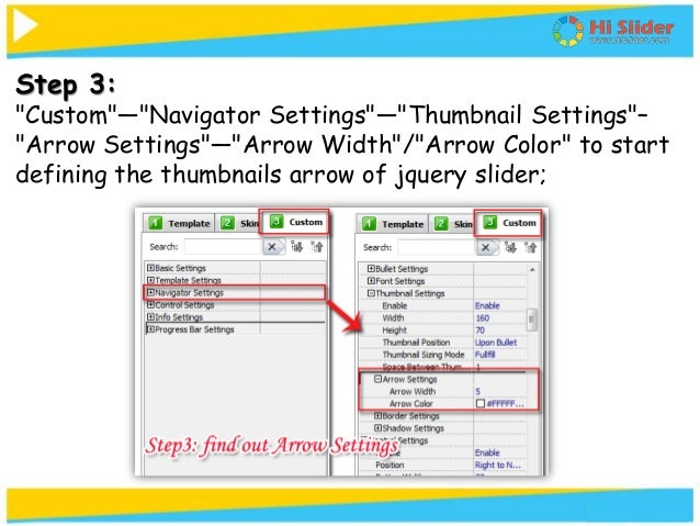 How to custom jquery slider(thumbnails) next and previous arrow with …