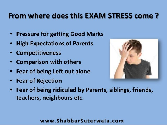 essay on examination fear Essay on examination article shared by examinations are important but increase the stress level of students, this is further compounded by parental and teachers expectations.