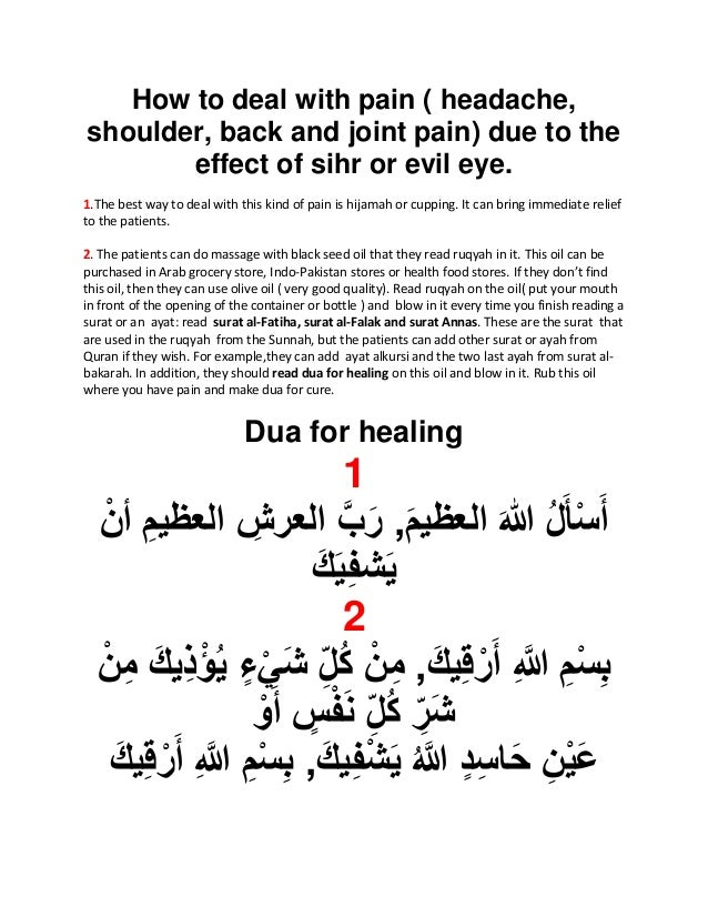 Treatment of pain ( hedacke, shoulder and back pain, joint pain) due…