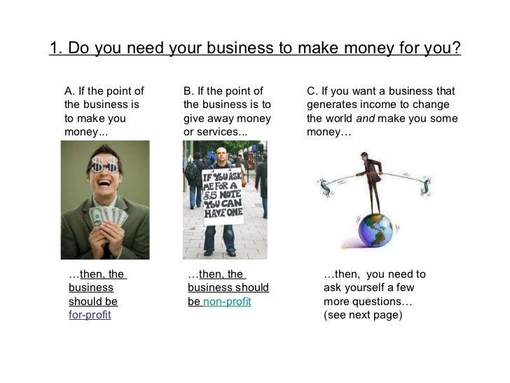 How to decide non profit vs. for profit