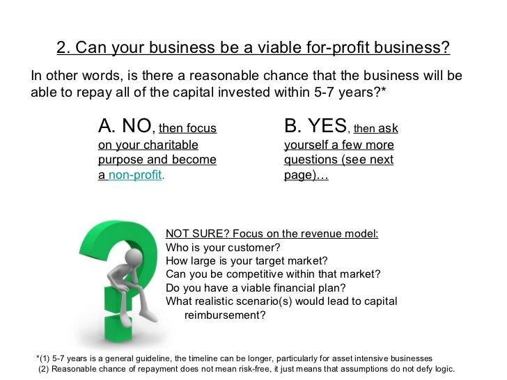 how to create a business plan for non-profit
