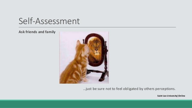 self assessment saint leo universityonline 6