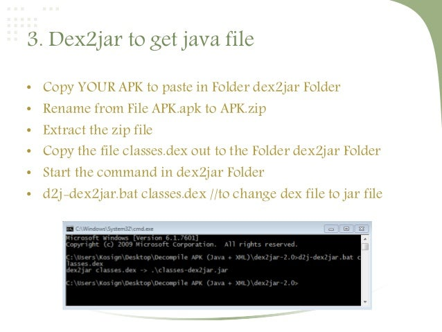 How to decompile apk