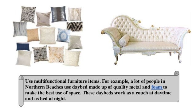 4 Use Multifunctional Furniture Items