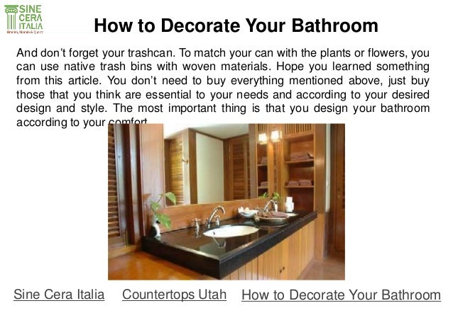 how to redecorate your bathroom spray down