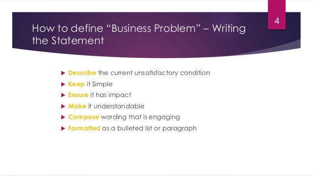 How to define business problem statement problem statement should have impact 3 4 friedricerecipe Images
