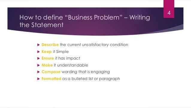 How to define business problem statement problem statement should have impact 3 4 wajeb Images