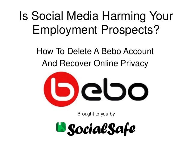how to delete your bebo account