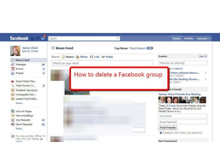 To delete a facebook group how to delete a facebook group ccuart Choice Image
