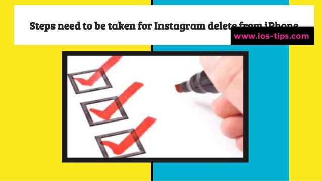 How to delete instagram account from i phone how to delete instagram account from iphone complete guide to delete instagram account from iphone ios tips 2 ccuart Choice Image