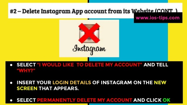 How to delete instagram account from i phone