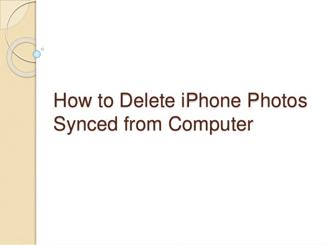How To Remove Synced Photos From Iphone Sync Calendar