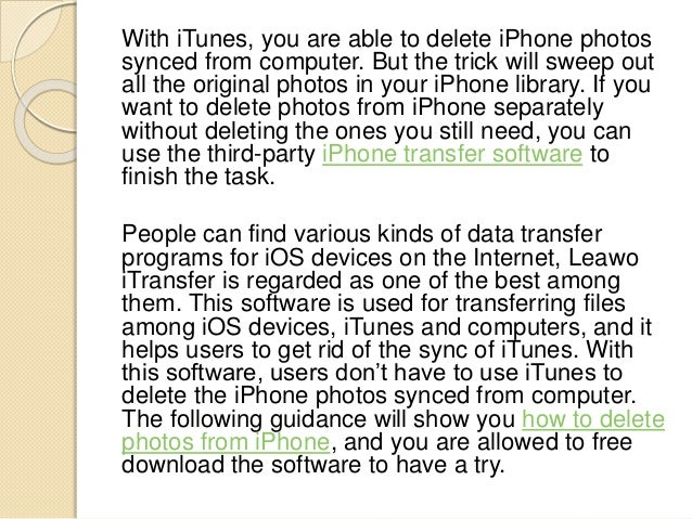 how to delete the photos out from iphone
