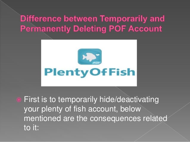 Account deleted does why keep getting my pof bimini-museum.org Forums