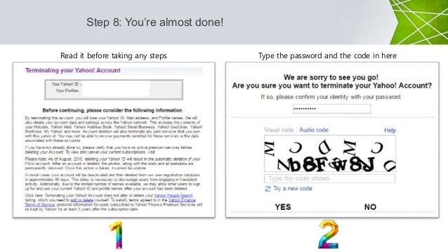 Delete yahoo account permanently - 62.8KB