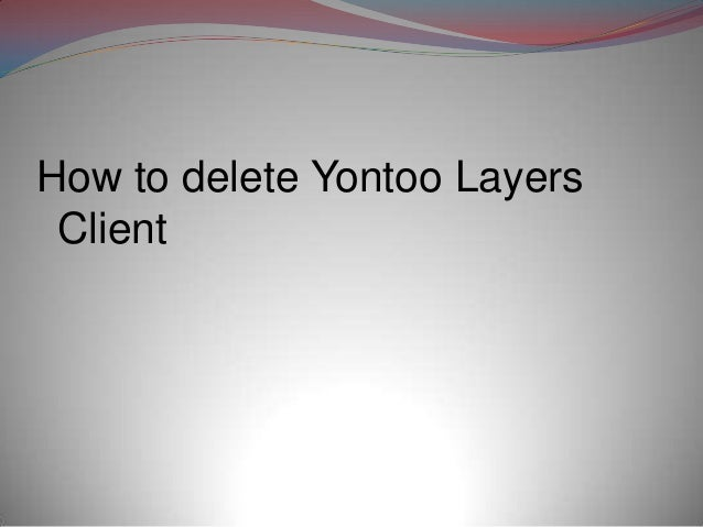 how to get rid of yontoo