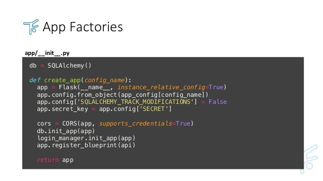 How to design a great api using flask ploneconf2017 app factories malvernweather