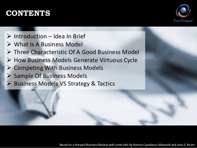 how to design a winning business model? essay Companies with winning operating models  how to design the operating model for  as part of its design criteria in addition, winning companies.